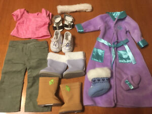 """AMERICAN GIRL DOLL CLOTHES, hangers AND SHOES 18"""" DOLLS"""