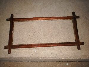 Antique Walnut Adirondack style picture frame