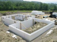 Insulated Concrete Form (ICF) Foundations  (Install available)