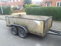CHEAP 8x4 twin axle trailer