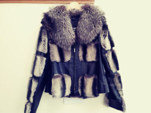 Gorgeous fur and leather jacket