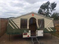 Folding camper trailer tent pennine fiesta