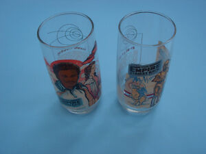 (2) STAR WARS EMPIRE STRIKES BACK BURGER KING GLASSES