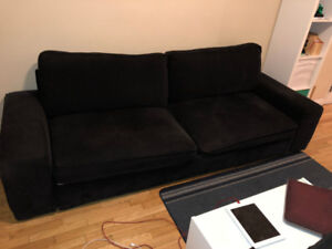 Free Ikea Kivik Sleeper Sofa - black, good condition