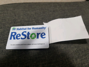 $75 GIFT CARD FOR  ReStore