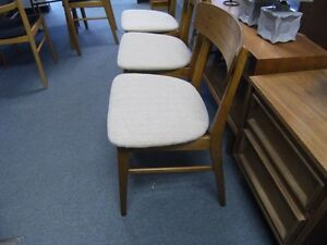 MCM  FOUR FARSTRUP TEAK BACKED DINING CHAIRS Peterborough Peterborough Area image 3