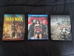 Mad Max / Batman V Superman / San Andrea BluRays