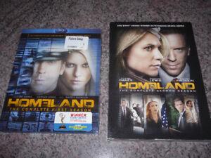 Homeland on Blu-Ray and DVD - seasons 1 + 2 for $10