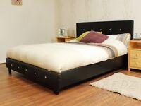 Diamanté double bed frame