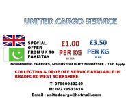 CARGO FROM UK TO PAKISTAN ++ LOOK !!
