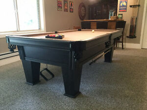 Billiards/ Pool table, lighting and accessories