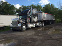 trailer truck for delivery / soil delivery / ldk / line ston