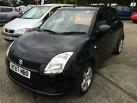 07 REG Suzuki Swift 1.3 GL LOW INSURANCE IN BLACK