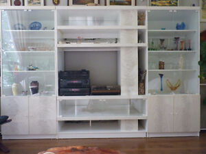 3 piece shelving and wall unit