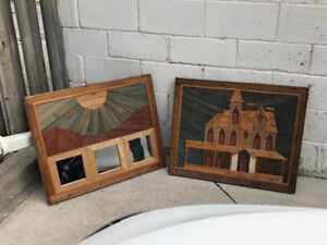 Rustic country lath wood art