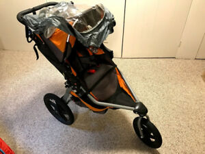 Bob Revolution Stroller with Rain Cover - Orange/Grey