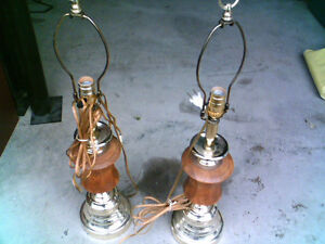 oak lamps with black shades