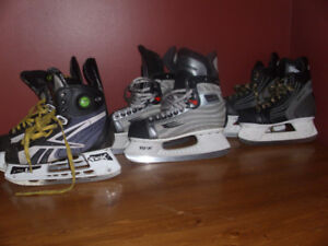 3 Pair Hockey Skates Prices Vary