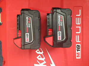 FS: 2x Milwaukee M18 5.0ah batteries for $200