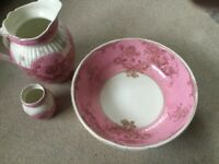 Jug bowl and vase set