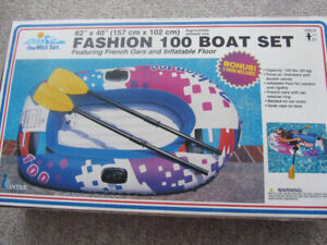 Brand New 1 Person Inflatable Boat With Oars