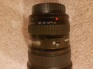 Canon 70 - 200L lens with lens hood and B&W clear filter