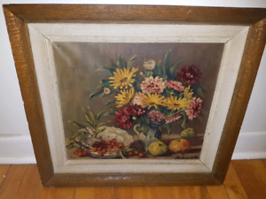 """19th century E.T. Holvoet oil painting 16x18"""""""