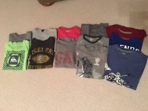 Large Lot of Youth Boys Name Brand Shirts Size 8/10