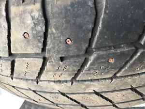 235/65/17 studded tires. Good shape $125for all 4