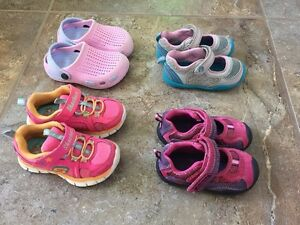 Shoes for toddler girl, size 5.5-6.5. Four pairs in total.  London Ontario image 1