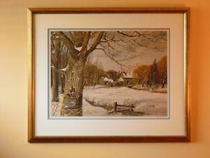 "Peter Robson, Sparta, Elgin Co. - Artist Proof ""Awaiting Spring"" London Ontario image 1"
