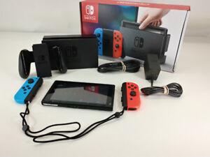 Console Nintendo Switch avec boite et accessoire + 1 jeux