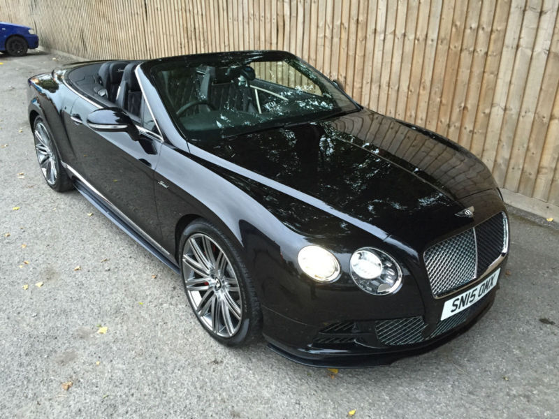 2015 15 Bentley Continental GTC Speed W12 6.0 Twin Turbo W12 635 BHP 8 Speed P/X