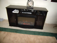 fireplace and tv stand
