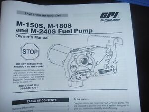 GPI M-180s 12 Volt fuel transfer pump new in box
