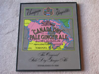 Vintage Canada Dry Pale Ginger Ale Sign.