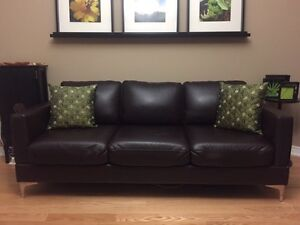 Urban Barn Leather Sofa & Chair Set - Both pieces only $749