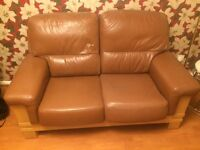 Quality 2 seater genuine leather sofa