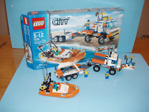 LEGO CITY no 7726, le COAST GUARD TRUCK with SPEED BOAT