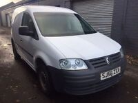 SALE! Vw caddy almost years MOT with no advisories, ready for work!