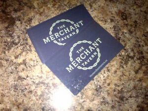 Two $50 Gift Cards for MERCHANT TAVERN St. John's Newfoundland image 1