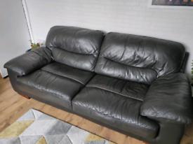 Black dark brown large sofa