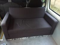 FREE sofa bed, ikea desk lamp + medium cream shaggy rug