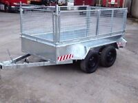 8x4 trailer galvanised with mesh sides and ramp door (not ifor williams,mcm,nugent,dale kane)