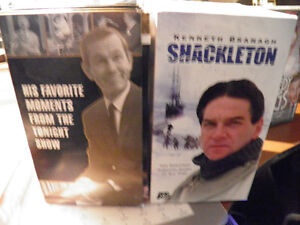 Two VHS box sets The Carson Collection and Shackleton from A&E Gatineau Ottawa / Gatineau Area image 1