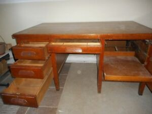 Old wooden desk to give away.