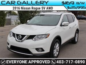 2016 Nissan Rogue SV AWD w/Heated Seats, BackUp Cam, PanoRoof $1