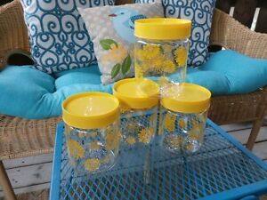 Vintage Corning Brand Glass Canister Set