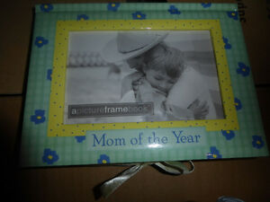 NEW Mom of the Year Book $4, 2 puzzle picture frames $ 3