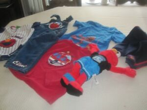 Elmo Clothes and Toy
